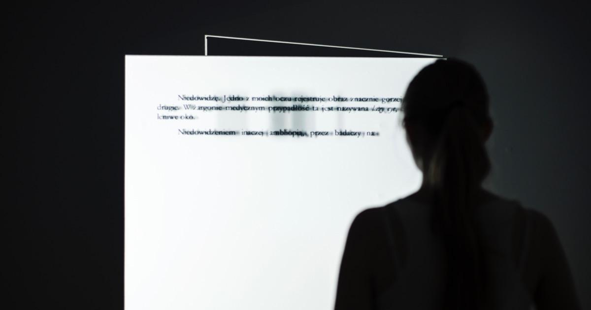 Lazy Eye – interaktywna instalacja oparta na doświadczeniu niedowidzenia